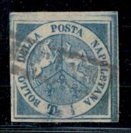 ANTICHI STATI ITALIANI - NAPOLI - 1860 - Dittatura - Trinacria - Mezzo Tornese (15) Usato - Annullo Leggero - Molto Bell - Postzegels