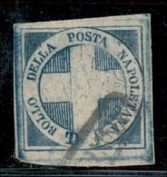 ANTICHI STATI ITALIANI - NAPOLI - 1860 - Luogotenenza - Crocetta - Mezzo Tornese (16) Usato - Grandi Margini - Molto Bel - Postzegels