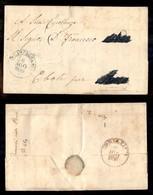 ANTICHI STATI ITALIANI - NAPOLI - Campagna (azzurro - P.ti 12) - Lettera In Franchigia Per Eboli Del 8.8.59 - Postzegels