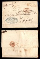 ANTICHI STATI ITALIANI - NAPOLI - Ovale Di Cardinale (rosso - P.ti R1) - Lettera Da Baiano A Napoli Del 22.2.59 - Tassat - Postzegels