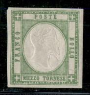 ANTICHI STATI ITALIANI - PROVINCE NAPOLETANE - 1861 - Mezzo Tornese (17) - Gomma Integra - Postzegels
