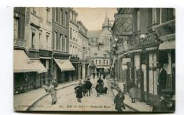 CPA  76 / EU  Grande Rue Très Animée   A  VOIR  !!!!!! - Eu