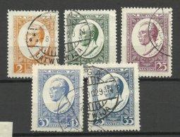 LETTLAND Latvia 1929 Michel 144 - 148 A O - Lettland