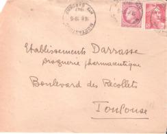 HAUTE GARONNE :- MONTASTROC Dateur Type A5 - Poststempel (Briefe)