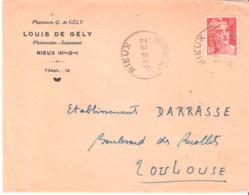 HAUTE GARONNE :- RIEUX Dateur Type A5 - Poststempel (Briefe)