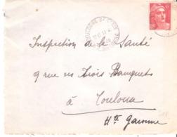 HAUTE GARONNE :- BOULOGNE S/ CESSE Dateur Type A5 - Poststempel (Briefe)
