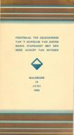 Menu - Feestmaal Huwelijk Maria Standaert X August Van Severen - Maldegem 13 Juni 1933 - Menus