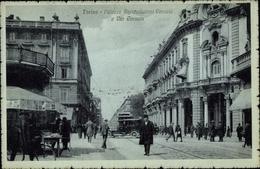 Clair De Lune Cp Torino Turin Piemonte, Palazzo Assicurazioni Venezia E Via Cernala - Italia