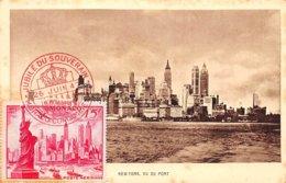 1947 . Carte Maximum . N°105567 .monaco. New York Vu Du Port .jubile Du Souverain.cachet Monaco Condamine . - Cartes-Maximum (CM)