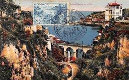 1947 . Carte Maximum . N°105568 .monaco. Sainte Devote Et Le Port .jubile Du Souverain.cachet Monaco Condamine . - Cartes-Maximum (CM)
