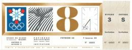 Billet Entrée PATINAGE ARTISTIQUE Figures Imposées Dames 8 Février 1968 Jeux Olympiques D'hiver Grenoble Stade De Glace* - Tickets - Entradas