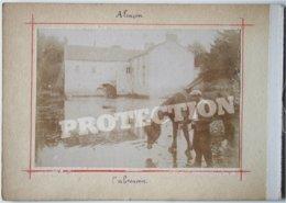 2 Photos Anciennes - 61 Orne - ALENCON - L'abreuvoir + Les Fossés   /1 - Alencon