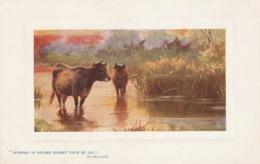 """Harry Payne. Bye Mead And Stream.Cows"" Tck Oilette Platemarked Ser. PC # 9722 - Tuck, Raphael"