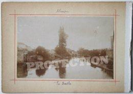 2 Photos Anciennes - 61 Orne - ALENCON - La Sarthe + 2 Enfants à Une Fontaine (?)   /1 - Alencon