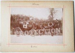2 Photos Anciennes - 61 Orne - ALENCON - Calèche Voiture Cheval + Moutons Dans Les Chaumes  /1 - Alencon