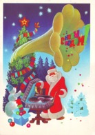 HAPPY NEW YEAR! FATHER FROST AND SNOWMAN LISTENING PHONOGRAPH. L. Lyubeznov. USSR, 1984. Postally Used Stationery Card - New Year