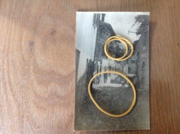 Venzone Photo Carte Originale Vue Barbiere Calzeleria - Cartoline