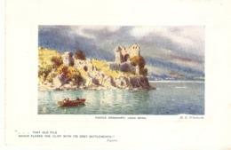 """H.B.Wimbush. Castle Urquhart, Loch Ness"" Tuck Oilette Platemarked  The Scottish Highlans Ser.PC# 9731 - Tuck, Raphael"