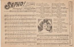 C. P. - SAPHO - PAROLE DE JEAN DARIS - MUSIQUE DE FRAGSON & CHANTRIER - CARTES CHANSONS L GORDE - AUX RÉPERTOIRES RÉUNIS - Música Y Músicos