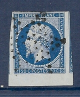 N° 14 OBLITERE ETOILE BORD DE FEUILLE + VOISINS TTB - 1853-1860 Napoleon III