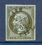 N°11 OBLITERE SUP CàD DE CAEN DU 24/08/62 - 1853-1860 Napoléon III