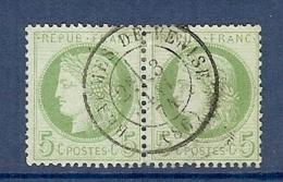N°53 EN PAIRE OBLITERE SUP BEAUME DE VENISE DE 1871 - 1871-1875 Cérès