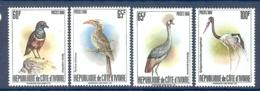 COTE D'IVOIRE N° 565A/565D SERIE OISEAUX RARE ** - Côte D'Ivoire (1960-...)