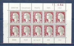 N° 1263 DECARIS BLOC DE 10 PUB PHILATEC DATE DU 11/04/64 ** - Publicités