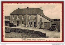 Rièzes - Maison Camille Dupont - Vue Animée - Automobiles - Magasin Au Bon Marché - 2 Scans - Chimay