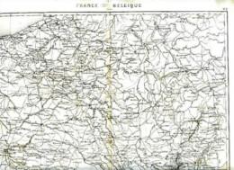 FRANCE-BELGIQUE - 1860 - Carte D'époque Gravée Par Ch. DYONNET, Dressée Par Th. DUVOTENAY - Carte Geographique