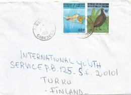 Cameroun Cameroon 1985 Dibombari Nightingale Luscinia Megarhynchos Grey Partridge Perdix Perdix Cover - Grey Partridge