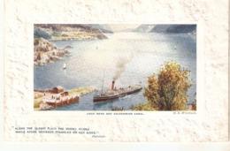 """H.B.Wimbush. Loch Ness And Caledonian Canal Tuck Oilette Platemarked  The Scottish Highlans Ser.PC# 9731 - Tuck, Raphael"