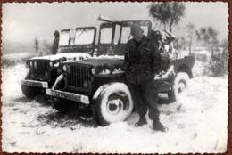 Photo Originale Guerre D'Algérie 1954-1962 - Engagé Parachutiste Spano Jean & Jeep M201 106 SR & Canon De 106 SR M40 - War, Military