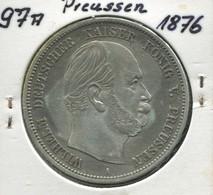 Preußen Wilhelm, Kleiner Reichsadler, 5 Mark Von 1876 A, Silber 900, Ss - 2, 3 & 5 Mark Plata