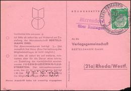 Landpost Birresdorf über Remagen Auf Postkarte SSt REMAGEN 9.2.1957 Nach Rheda - BRD