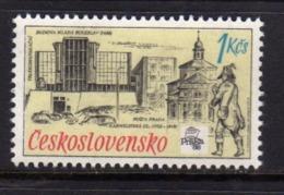 CZECHOSLOVAKIA CESKOSLOVENSKO CECOSLOVACCHIA 1988 INTERNATIONAL PHILATELIC EXHIBITION PRAGA 88 TELECOMMUNICATIOS 1k MNH - Cecoslovacchia
