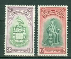 Dominica: 1951   B.W.I. University College Inauguration     MH - Dominica (...-1978)