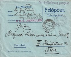 AUTRICHE 1915 LETTRE EN MARINENFELDPOSTAMT  POLA SUR S.M.S. HERKULES - Covers & Documents