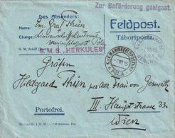 AUTRICHE 1915 LETTRE EN MARINENFELDPOSTAMT  POLA SUR S.M.S. HERKULES - 1850-1918 Keizerrijk