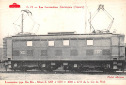 ¤¤  -   Les Locomotives Françaises  -   Locomotive B'o B'o Serie E 4201 à 4701 De La Cie Du MIDI - Matériel