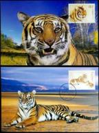 China 2004 South China Tiger Maximum Card 2v - 1949 - ... République Populaire