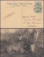 """Congo Belge - EP Vue 15C Vert Foncé Voyagé - Nº105 """" Elan """" (DD) DC4559 - Belgisch-Kongo - Sonstige"""