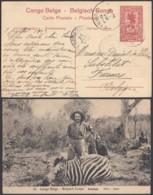"""Congo Belge - EP Vue 10C Brun Voyagé - Nº52 """" Katanga / Zebra """" (DD) DC4562 - Belgisch-Kongo - Sonstige"""