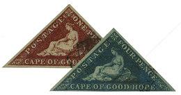 Cap De Bonne Espérance : N°7 Et 8 Obl. TB - África Del Sur (...-1961)