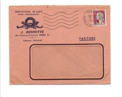 LETTRE A EN TETE DE PARIS GARE D'AUSTERLITZ 1964 - Marcophilie (Lettres)