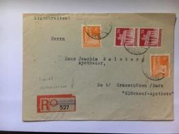 GERMANY Allied Cover Registered Friedrichstadt To Grosshuden - Bizone