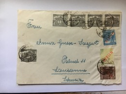 GERMANYBerlin Cover Multi-stamped To Lausanne Switzerland - Berlin (West)
