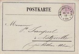 CP Affr Michel 40 Obl MULHAUSEN  I/ELS 1 Du 19.8.82 Adressé à Natzwiller - Poststempel (Briefe)