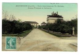 """78 YVELINES MONTESSON Ecole Départementale TH Roussel Maison D'éducation Infirmerie Tampon Verso """"Surveillant Général"""" - Montesson"""