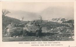 Z.448.  MONTE CASSINO - Montecassino - Carri Armati Innanzi Alla Masseria Albanetta - Italia